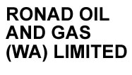 Ronad Oil and Gas WA Limited